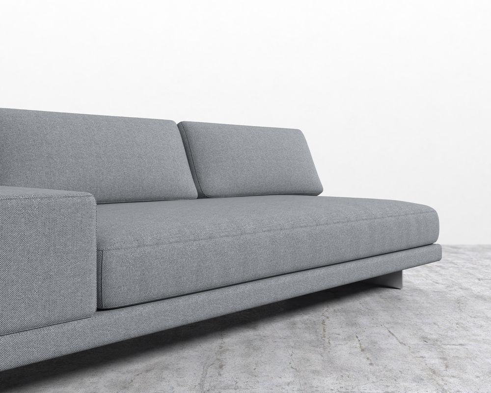 Dresden Armless Sofa with Armrest