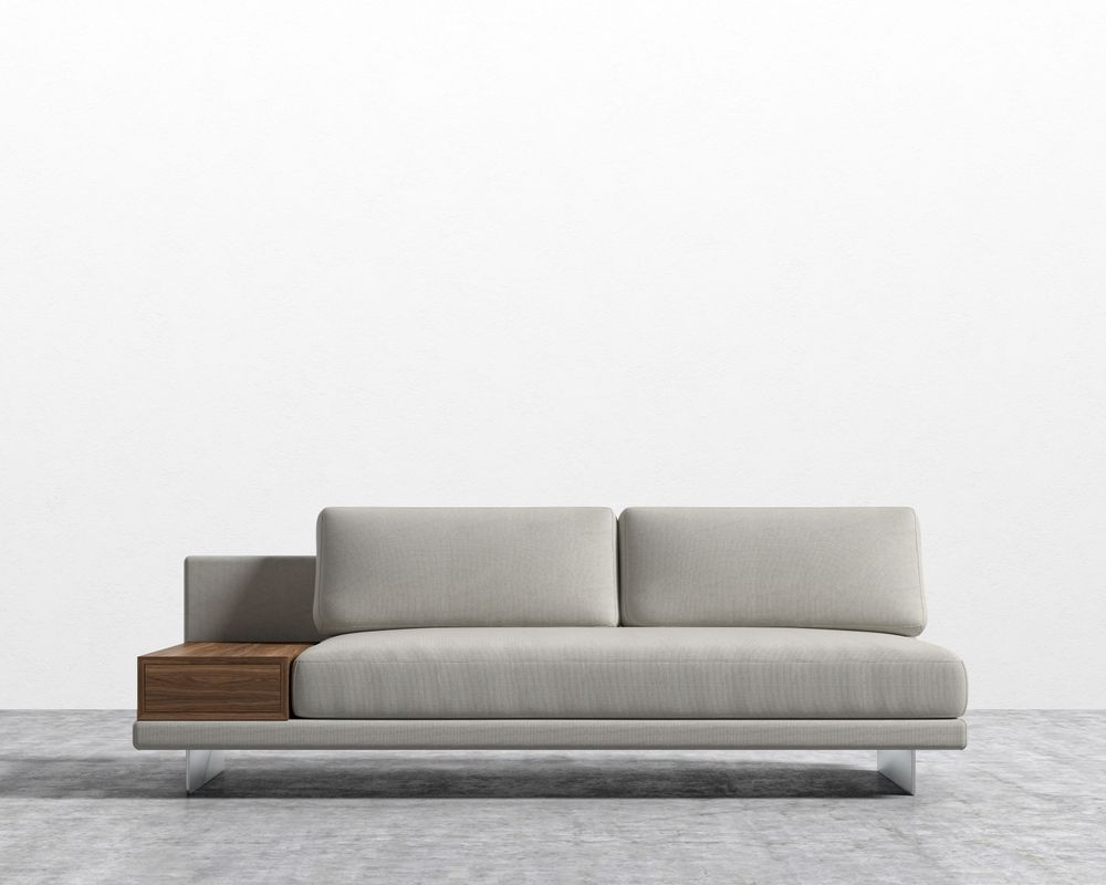 Dresden Armless Sofa with Storage Table
