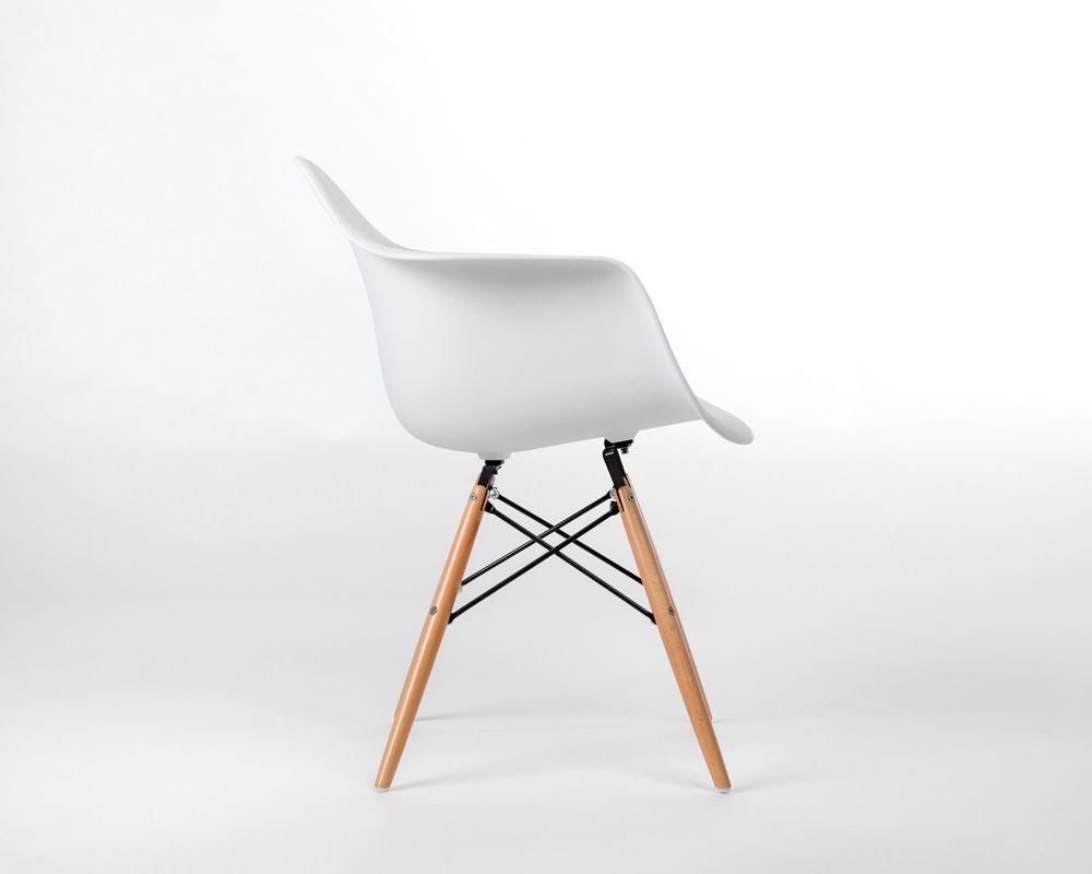 DAW Molded Plastic Armchair Wooden Dowel Base
