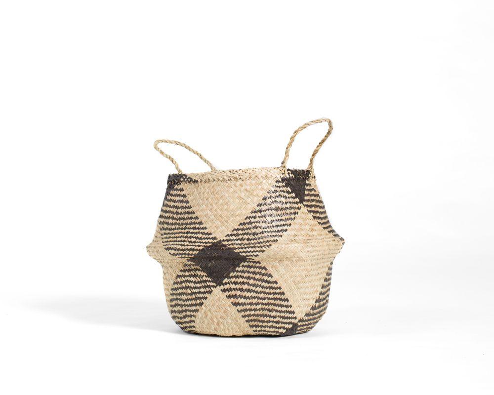 Greta Belly Basket - Brown