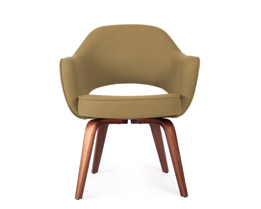 Executive Armchair - Wood Legs