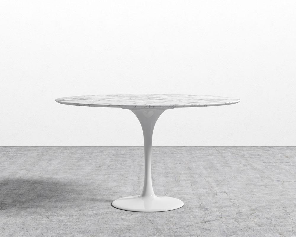 Tulip Table Round - Carrara