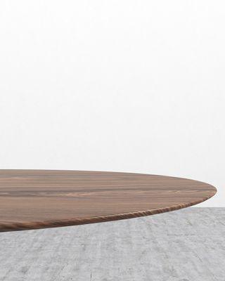 Tulip Table Oval - Walnut